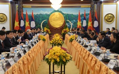 Tổng Bí thư, Chủ tịch nước Nguyễn Phú Trọng hội đàm với Tổng Bí thư, Chủ tịch nước Lào Bounhang Vorachith tại thủ đô Viêng Chăn (Thời sự trưa 24/2/2019)