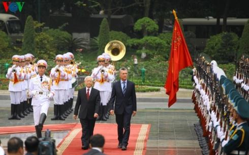 Tổng Bí thư, Chủ tịch nước Nguyễn Phú Trọng đón và hội đàm với Tổng thống Argentina Mauricio Macri (Thời sự trưa 20/2/2019)
