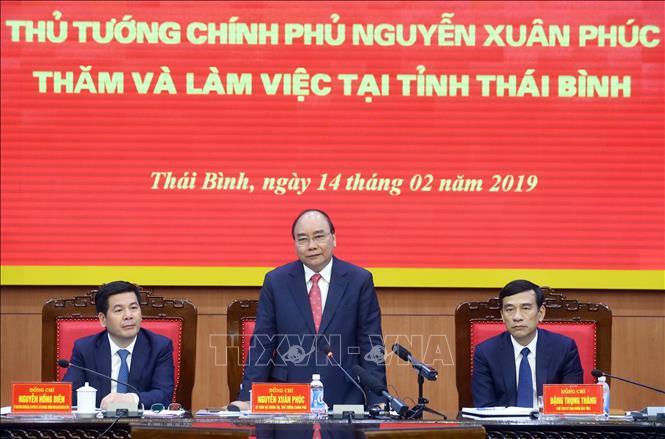 Thủ tướng Nguyễn Xuân Phúc làm việc với lãnh đạo tỉnh Thái Bình (Thời sự chiều 14/2/2019)