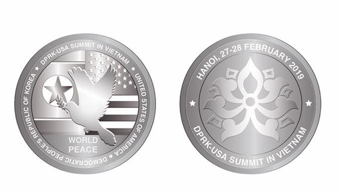 Mỹ và Việt Nam phát hành đồng xu kỷ niệm Hội nghị Thượng đỉnh Mỹ - Triều lần thứ 2 (26/2/2019)