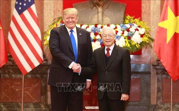 Tổng Bí thư, Chủ tịch nước Nguyễn Phú Trọng hội đàm với Tổng thống Mỹ Donald Trump (Thời sự trưa 27/2/2019)