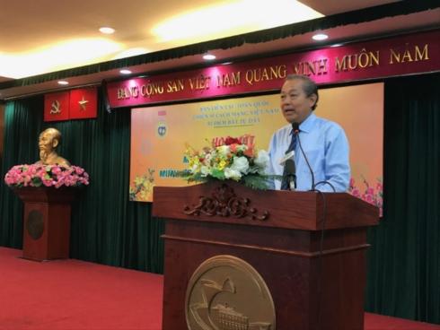 Phó Thủ tướng Thường trực Chính phủ Trương Hòa Bình gặp mặt 200 cựu chiến sỹ cách mạng Việt Nam bị địch bắt tù đày tại thành phố Hồ Chí Minh (Thời sự trưa 8/2/2019)