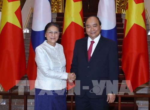 Thủ tướng Nguyễn Xuân Phúc tiếp Chủ tịch Quốc hội Lào Pany Yathotou (Thời sự chiều 5/3/2019)