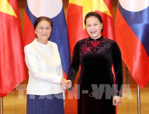 Chủ tịch Quốc hội Nguyễn Thị Kim Ngân làm việc với Chủ tịch Quốc hội Lào Pany Yathotou nhân chuyến thăm làm việc tại Việt Nam (Thời sự đêm 5/3/2019)