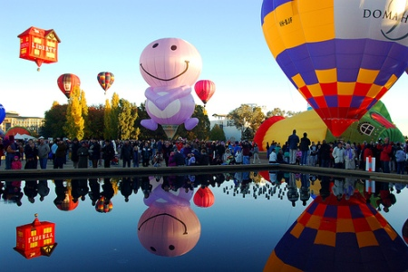 Lễ hội khinh khí cầu Canberra ở Australia (11/3/2019)