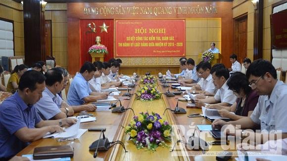 Bắc Giang tăng cường kỷ luật Đảng thông qua công tác kiểm tra, giám sát (26/3/2019)