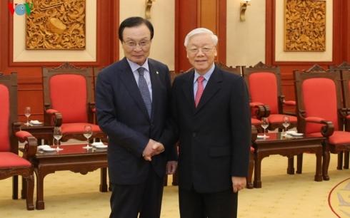 Tổng Bí thư, Chủ tịch nước Nguyễn Phú Trọng tiếp Đoàn đại biểu Đảng Dân chủ Đồng hành Hàn Quốc (Thời sự chiều 26/3/2019)