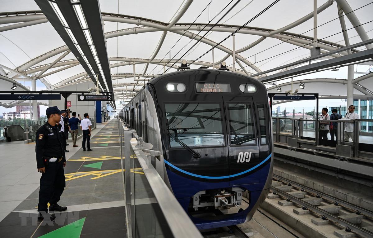 Indonesia khai trương tuyến tàu điện ngầm đầu tiên ở thủ đô Jakarta (27/3/2019)