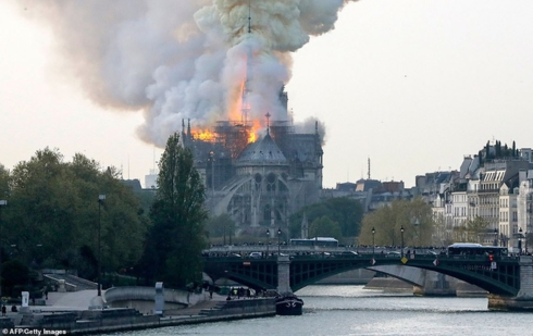 Hoả hoạn tàn phá nghiêm trọng nhà thờ Đức Bà Paris - Pháp (16/4/2019)