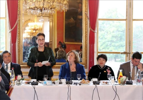 Chủ tịch Quốc hội Nguyễn Thị Kim Ngân làm việc với nhóm nghị sĩ hữu nghị Pháp - Việt và các doanh nghiệp lớn của Pháp (Thời sự chiều 1/4/2019)