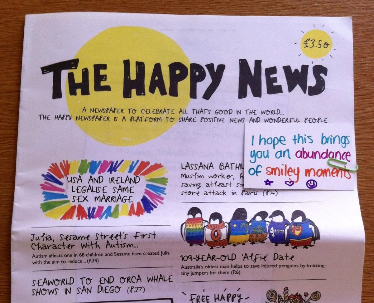 """Tờ báo """"Happy"""": Nơi chỉ có những tin tức và các câu chuyện tốt đẹp, mang ý nghĩa tích cực (10/4/2019)"""
