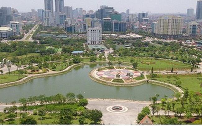 Phó Thủ tướng chỉ đạo kiểm tra việc xây dựng bãi đỗ xe ngầm tại Công viên Cầu Giấy, Hà Nội (16/4/2019)