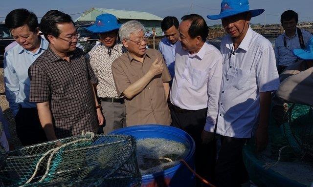 Tổng Bí thư, Chủ tịch nước Nguyễn Phú Trọng làm việc với lãnh đạo chủ chốt tỉnh Kiên Giang. (Thời sự chiều 14/4/2019)