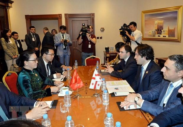 Chủ tịch Quốc hội Nguyễn Thị Kim Ngân tiếp Phó Ủy viên trưởng Nhân đại Trung Quốc và hội kiến Chủ tịch Quốc hội Gruzia (8/4/2019)