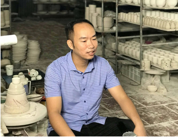 Cơ sở sản xuất gốm sứ Hưng Dung - giấc mơ khởi nghiệp tại Bát Tràng (12/5/2019)