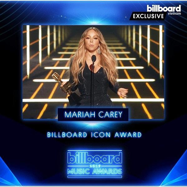 Sự trở lại ấn tượng của Diva Mariah Carey với giải thưởng Billboard Iconic Award (3/5/2019)