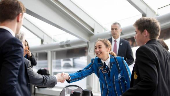 Tổng thư ký Liên hợp quốc ăn sáng cùng học sinh New Zealand, bàn chuyện biến đổi khí hậu (14/5/2019)