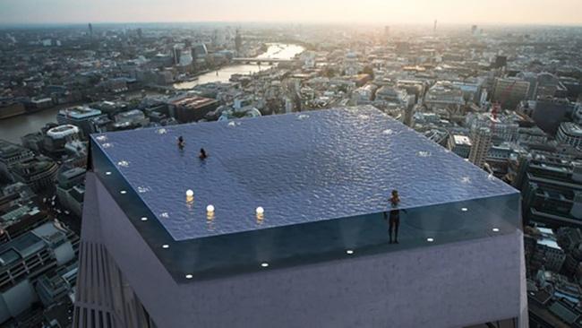 London sẽ trở thành thành phố đầu tiên trên thế giới sở hữu bể bơi với tầm nhìn 360 trên nóc một tòa nhà chọc trời (11/6/2019)