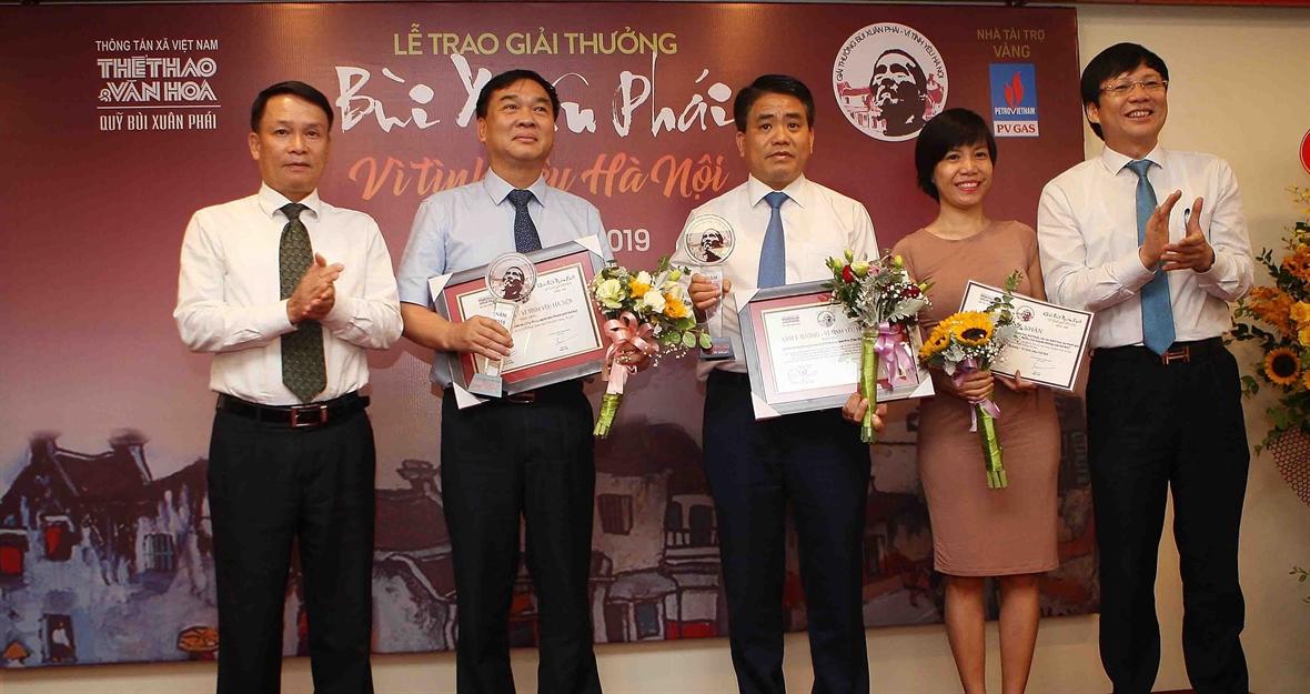 Những tác giả và tác phẩm nhận Giải thưởng Bùi Xuân Phái – Vì tình yêu Hà Nội lần thứ 12 (28/8/2019)