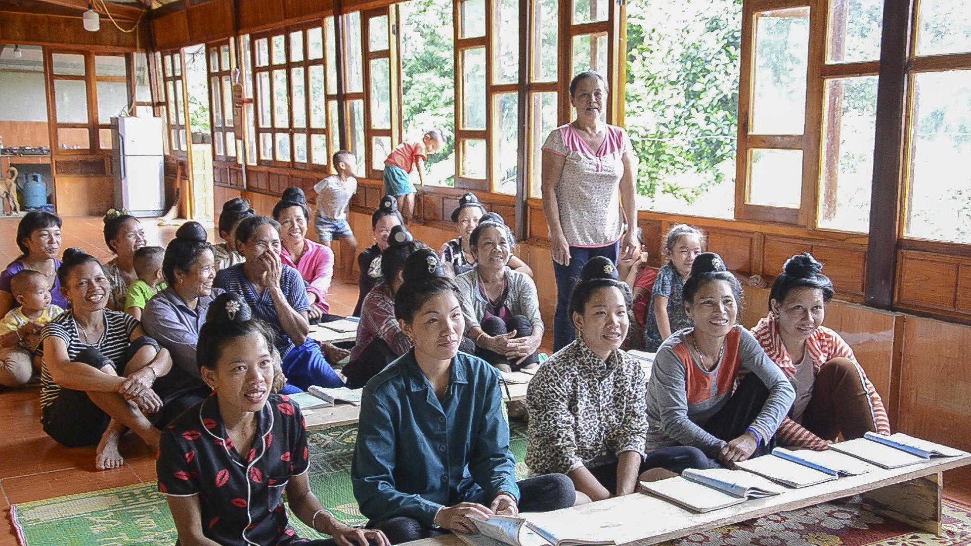 Lớp học đặc biệt dưới chân núi Pom Có ở xã Quài Cang, huyện Tuần Giáo, tỉnh Điện Biên (10/8/2019)