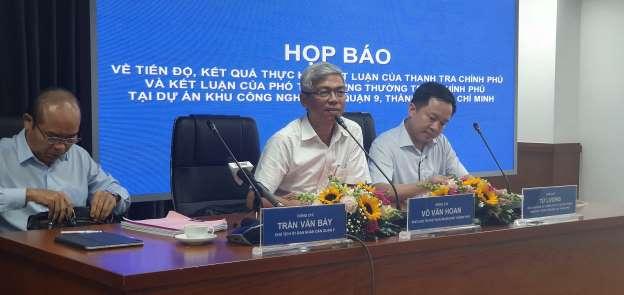 THỜI SỰ 21H30 ĐÊM 6/8/2019: Ủy ban nhân dân thành phố Hồ Chí Minh họp báo về tiến độ, kết quả thực hiện kết luận của Thanh tra Chính phủ và kết luận của Phó Thủ tướng thường trực Trương Hoà Bình tại dự án Khu Công nghệ cao, Quận 9.