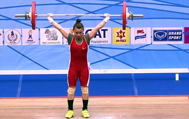 Vận động viên cử tạ Nguyễn Thị Thúy - cô gái vàng của thể thao Việt Nam (29/8/2019)