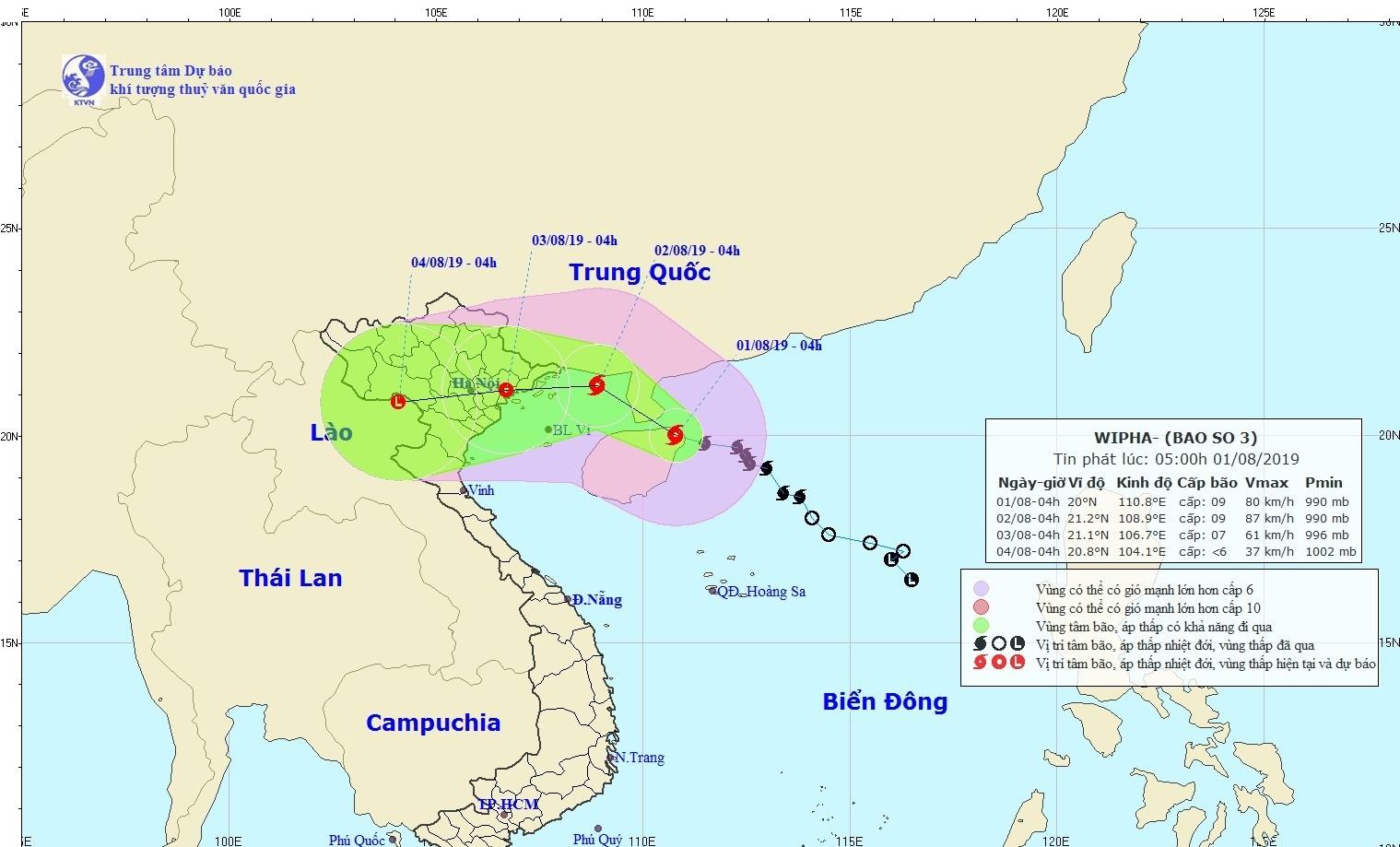 THỜI SỰ 6H SÁNG 1/8/2019: Bão số 3 bắt đầu ảnh hưởng tới Vịnh Bắc Bộ. Cơn bão được nhận định có diễn biến rất phức tạp, sẽ gây mưa to đến rất to cho các tỉnh Bắc Bộ.