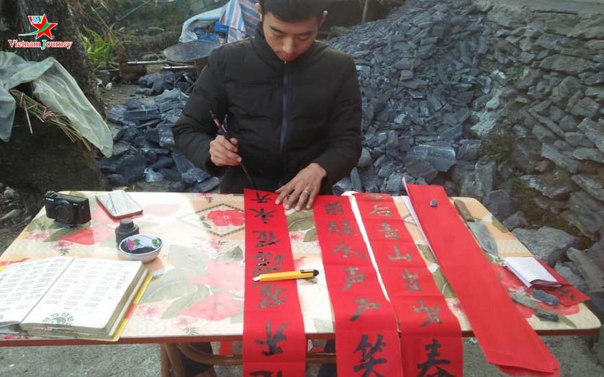Thú chơi câu đối đỏ người Dao Khâu ở Sìn Hồ, Lai Châu (21/1/2020)