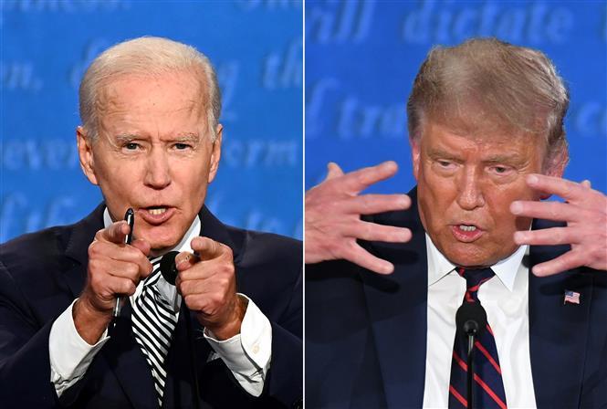 Màn so găng đầu tiên của hai ứng cử viên Tổng thống Mỹ (1/10/2020)