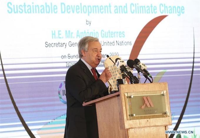 Tổng Thư ký Liên Hợp Quốc kêu gọi thế giới nỗ lực giải quyết khủng hoảng biến đổi khí hậu (18/2/2020)