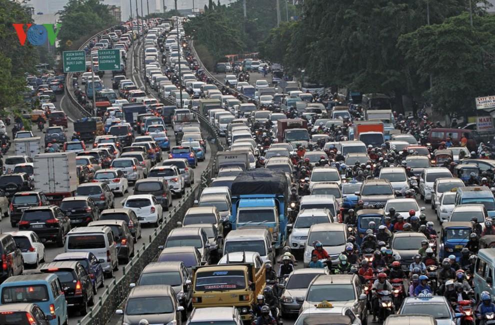 Thủ đô Jakarta của Indonesia đứng thứ 10 trong tổng số 416 thành phố tắc đường nhất thế giới (19/2/2020)
