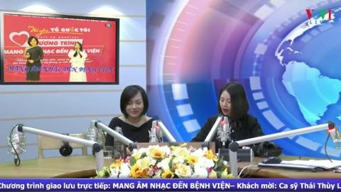 Giao lưu trực tiếp với ca sỹ Thái Thùy Linh: Mang âm nhạc đến bệnh viện (23/2/2020)
