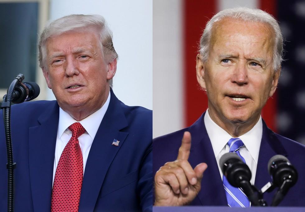 Tương quan giữa 2 ứng cử viên Donald Trump và Joe Biden trong chặng đua nước rút vào Nhà Trắng (29/7/2020)