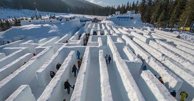 Mê cung tuyết khổng lồ tại Canada, điểm đến độc đáo, thú vị (22/02/2021)