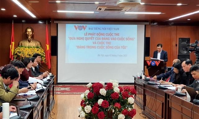 """Đài Tiếng nói Việt Nam phát động cuộc thi """"Đưa Nghị quyết của Đảng vào cuộc sống"""" (2/3/2021)"""