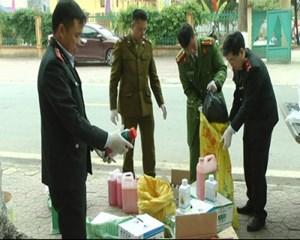 Tổ QLTT địa bàn huyện Bảo Thắng tỉnh Lào Cai: thu giữ hơn 1 tạ thuốc Bảo vệ thực vật không rõ nguồn gốc xuất xứ (09/04/2021)