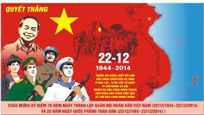 Từ 6h00 đến 11h00 ngày 22/12/2014 trên VOV1: Chương trình phát thanh đặc biệt Kỷ niệm 70 năm ngày thành lập Quân đội nhân dân Việt Nam