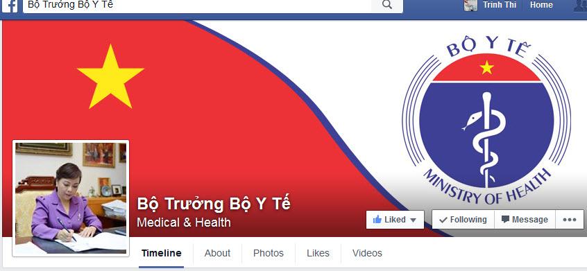 Thời sự sáng ngày 03/3/2015: Bộ trưởng Bộ Y tế trở thành Bộ trưởng đầu tiên công khai chính thức địa chỉ trang fanpage cá nhân trên mạng xã hội Facebook để tiếp nhận phản ánh của người dân
