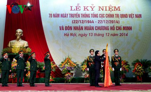 Thời sự trưa ngày 13/12/2014: Chủ tịch nước Trương Tấn Sang dự lễ kỷ niệm 70 năm Ngày truyền thống Tổng cục Chính trị Quân đội nhân dân Việt Nam