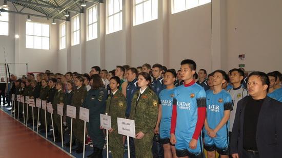 Giao lưu bóng đá giữa đội Dinamo tỉnh Kaluga Nga và Đội bóng đá của các học viện An ninh Việt Nam tại Liên bang Nga. (11/4/2016)