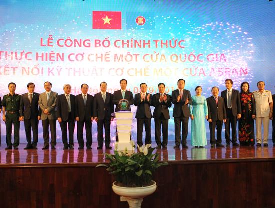 Chính thức vận hành cơ chế một cửa quốc gia và một cửa ASEAN