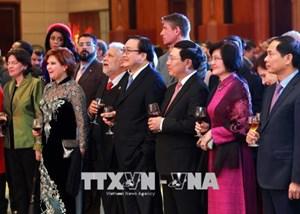 Phó Thủ tướng Phạm Bình Minh gặp mặt Đoàn Ngoại giao nhân dịp Tết Mậu Tuất 2018 (5/2/2018)