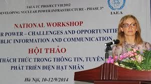 Khoa học và công nghệ ngày 12/9/2014: Cơ hội và thách thức trong thông tin, tuyên truyền phát triển điện hạt nhân.