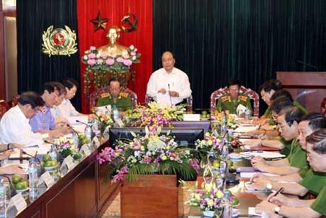 Thời sự  chiều ngày 7/7/2014: Phó Thủ tướng Nguyễn Xuân Phúc làm việc với Tổng cục Cảnh sát phòng chống tội phạm, Bộ công an