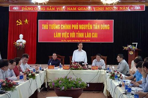 Thời sự chiều ngày 20/9/2014: Thủ tướng Nguyễn Tấn Dũng làm việc với Lãnh đạo tỉnh Lào Cai về nhiệm vụ phát triển kinh tế xã hội của địa phương.
