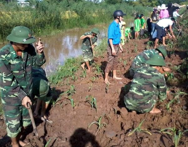 Bộ đội Biên phòng giúp dân phát triển kinh tế nơi biên giới.