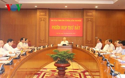 Thời sự chiều ngày 25/4/2015: Tổng Bí thư Nguyễn Phú Trọng chủ trì phiên họp thứ 7 Ban Chỉ đạo Trung ương về phòng chống tham nhũng.