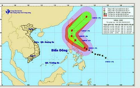 Thời sự trưa ngày 09/5/2015: Cơn bão có tên quốc tế Noul đang tiến vào biển Đông với tốc độ cực nhanh.