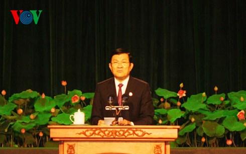 Thời sự trưa ngày 4/7/2015: Chủ tịch nước Trương Tấn Sang dự Đại hội thi đua yêu nước lần thứ 6 của Thành phố Hồ Chí Minh.