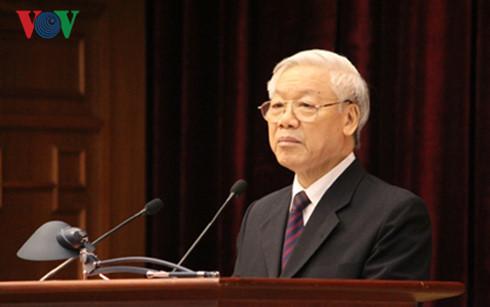 Tổng Bí thư Nguyễn Phú Trọng yêu cầu tăng cường xây dựng, chỉnh đốn Đảng, đẩy mạnh đấu tranh phòng chống tham nhũng và tập trung phát triển kinh tế - xã hội đất nước (Thời sự sáng 8/7/2016)